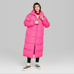 Wild Fable Pink Puffer Jacket